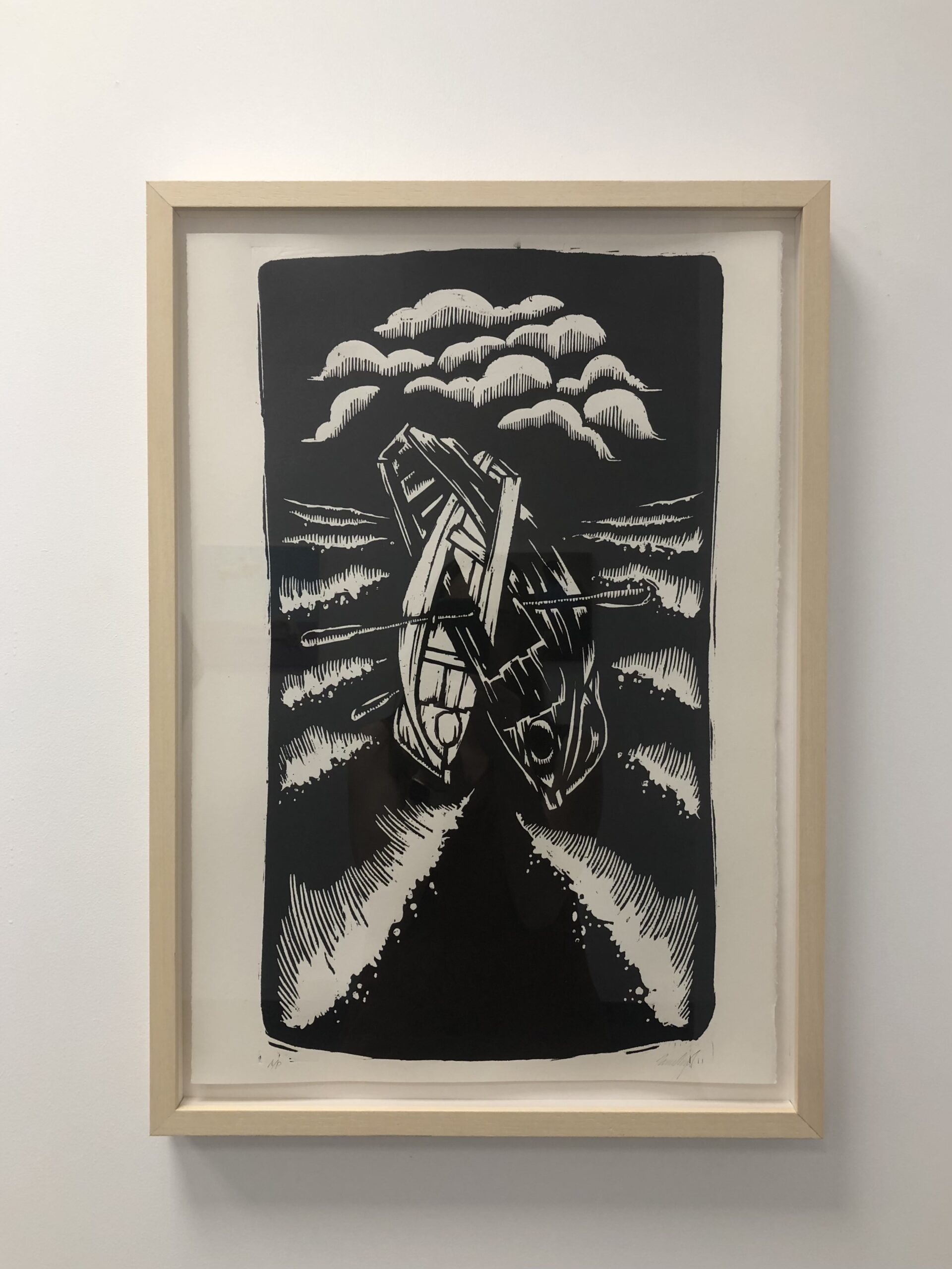 'Crossing Ships' Jamie Coxon 380x560mm $220 unframed - Limited editions available to purchase on order