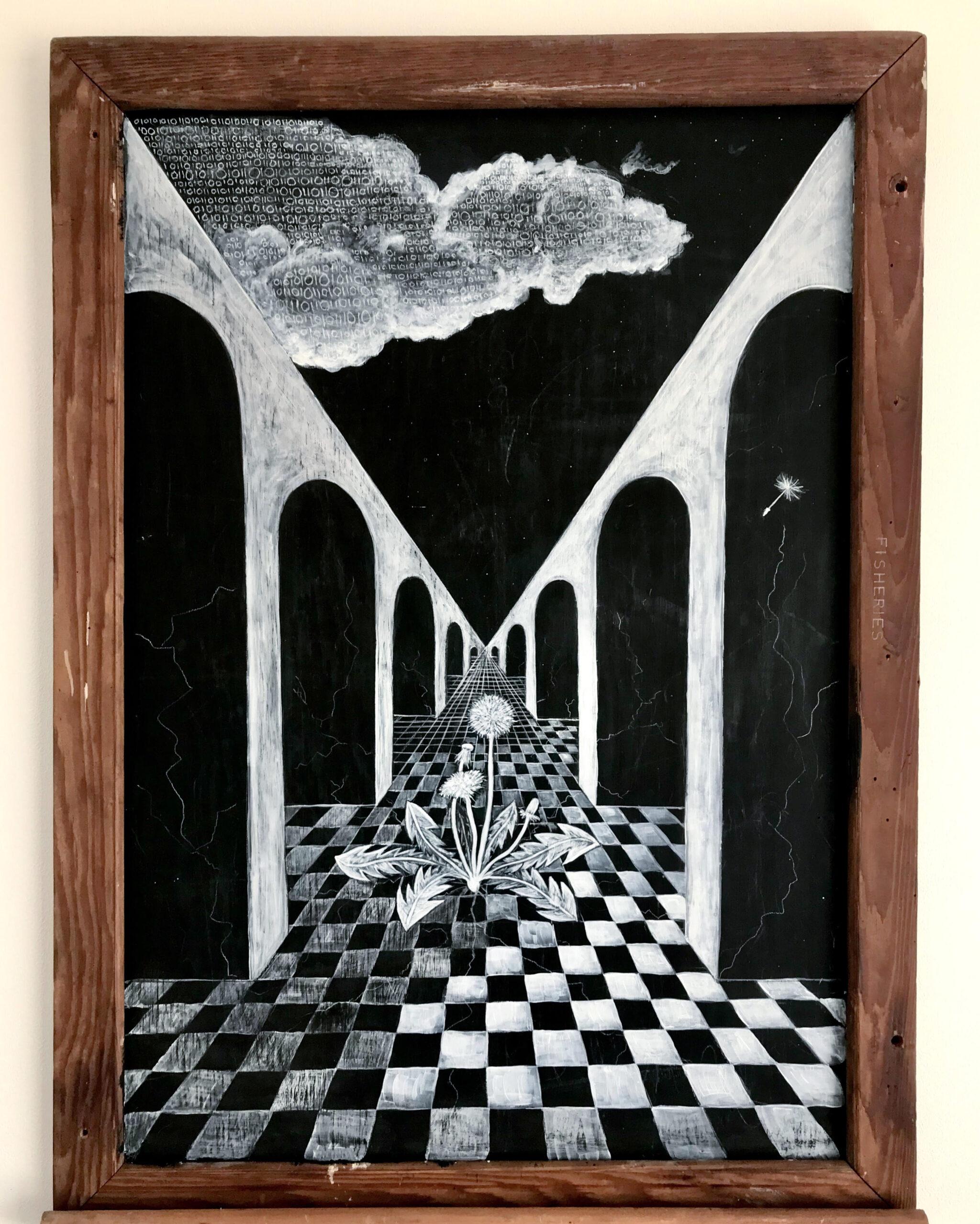 'Hopium' Kalou Koefoed, Acrylic on board $590