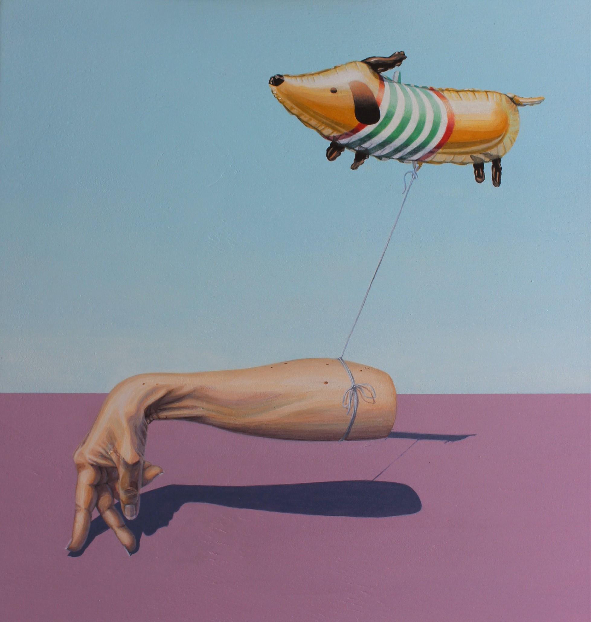 'I wish I had a dog' Isabelle Mathys, Acrylic on board $920 (450x430mm)