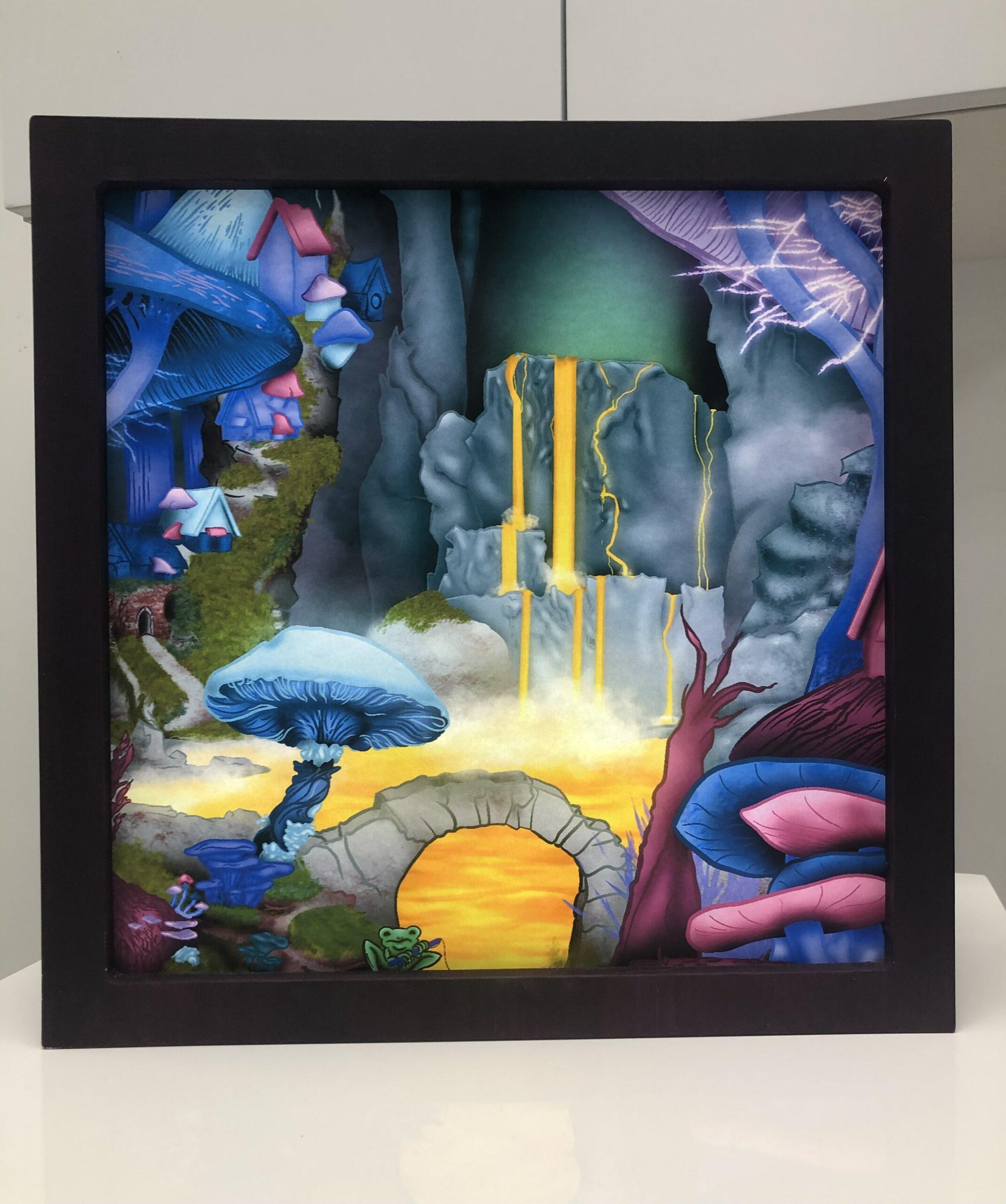 'Shy Little Frog' Light Box, Amaria Kee Huaki $400 (350x350mm)