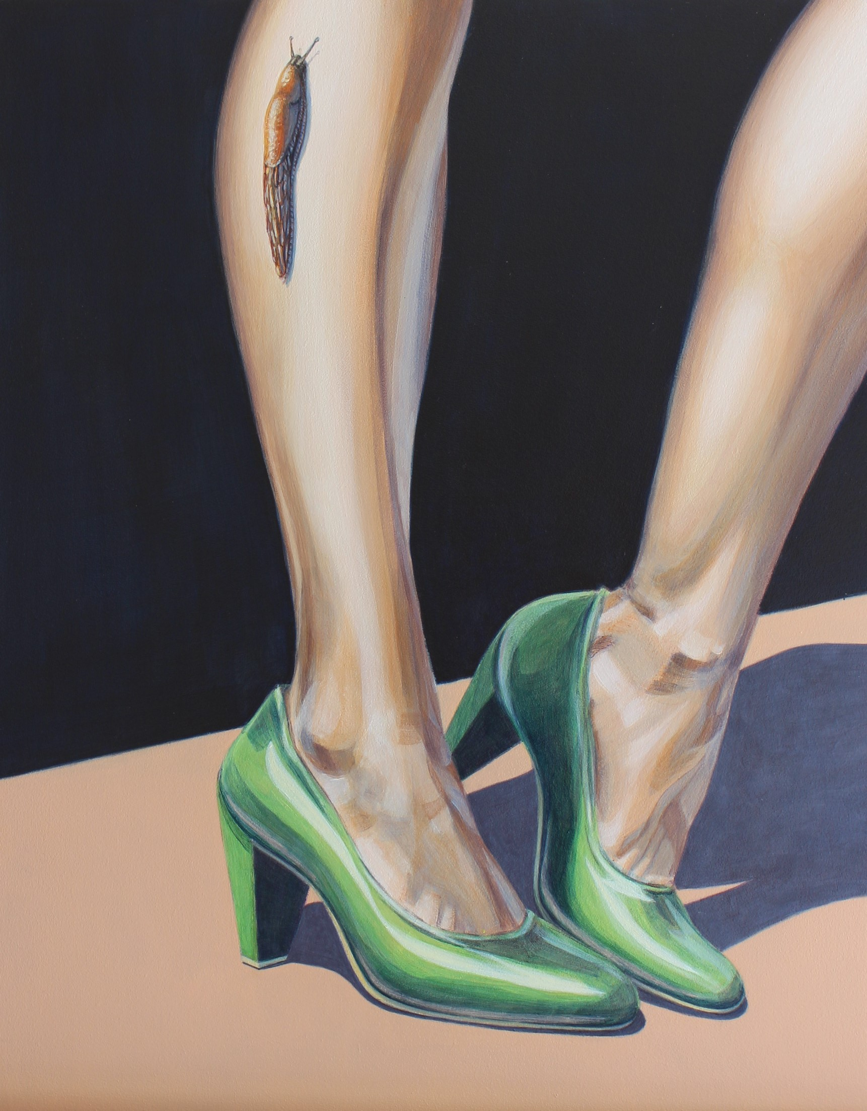 'The Creep' Isabelle Mathys, Acrylic on board SOLD (408x319mm)