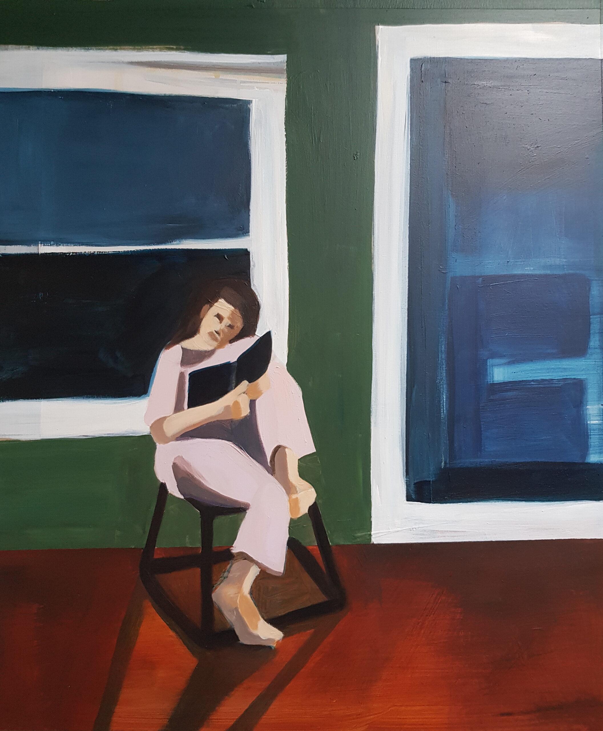 'Reading' Emma Bossley $990 (560x490mm)